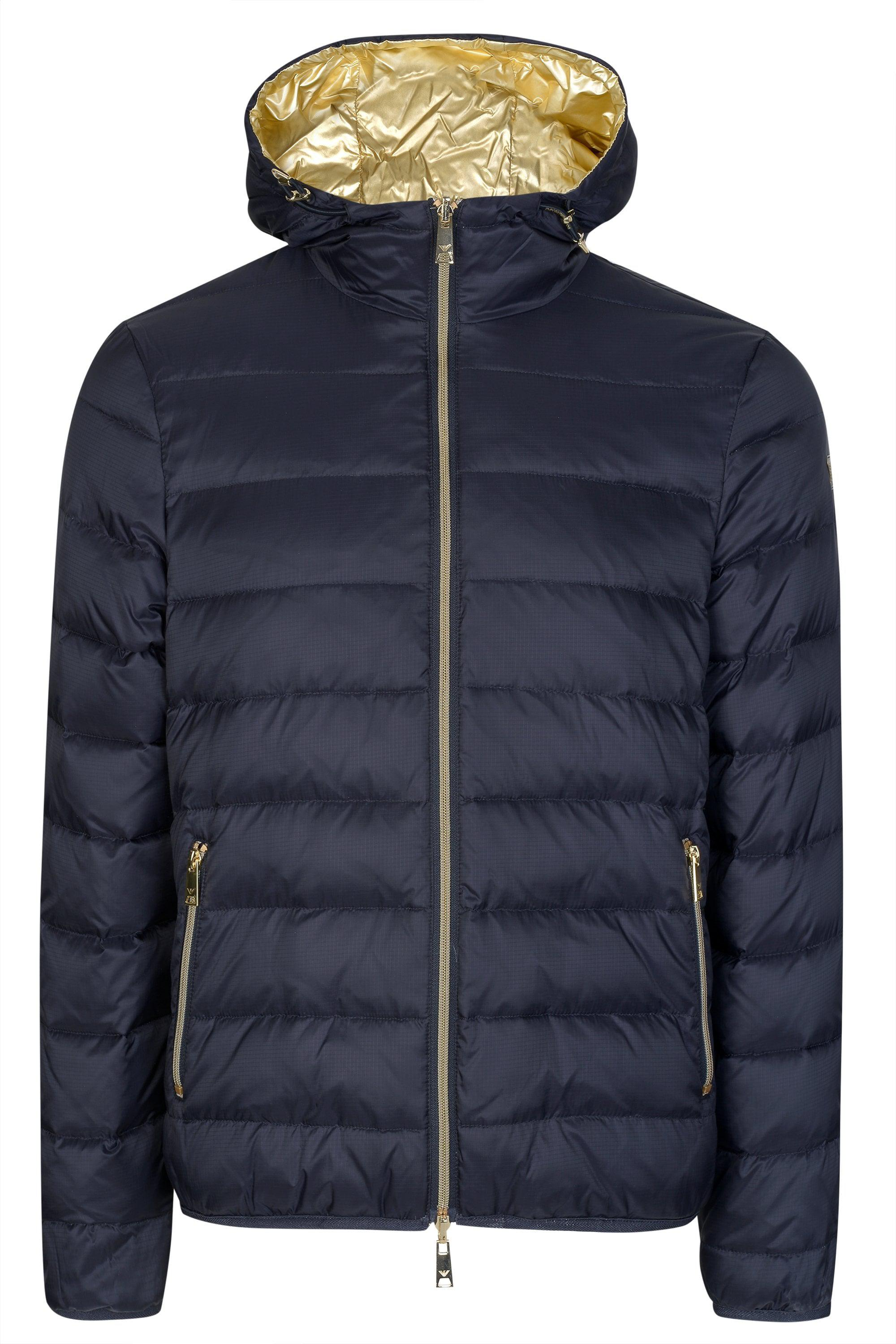 Emporio Armani Gold Lining Jacket in Blue for Men - Lyst 60aa5d6d4cb2