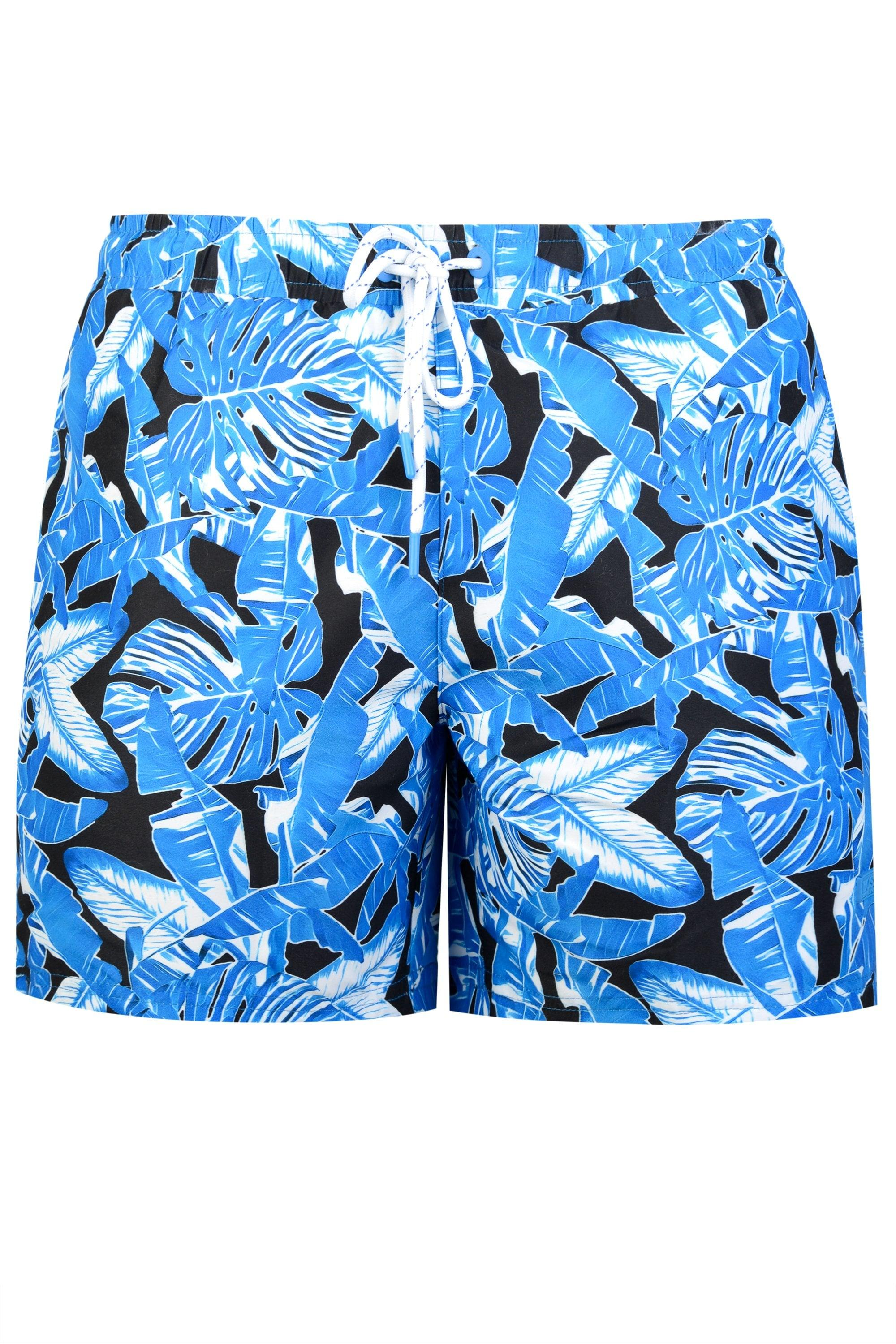 bcd5406fe2 BOSS. Men's Blue Hugo Barracuda Print Swim Shorts. £65 From Circle Fashion