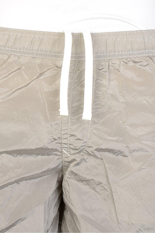 ae4e2791c4592 Stone Island Tonal Logo Swim Shorts Silver in Metallic for Men - Lyst