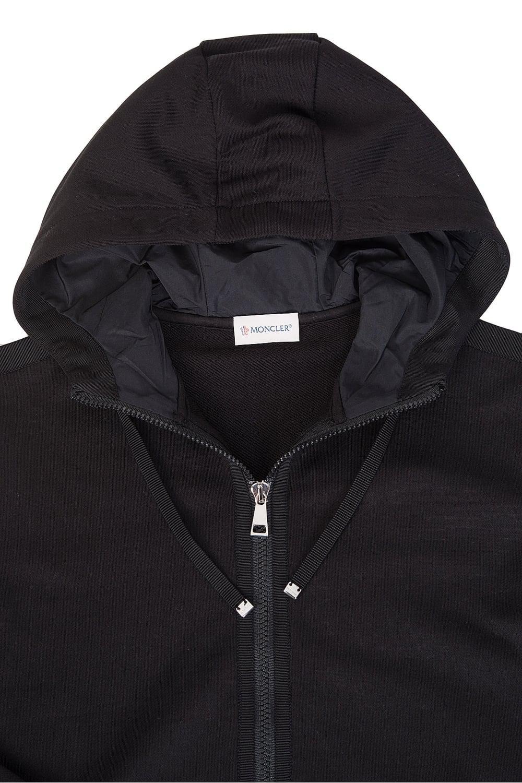 2c112d97e498 Moncler Womens Jersey Zip Up Sweatshirt Black in Black for Men - Lyst