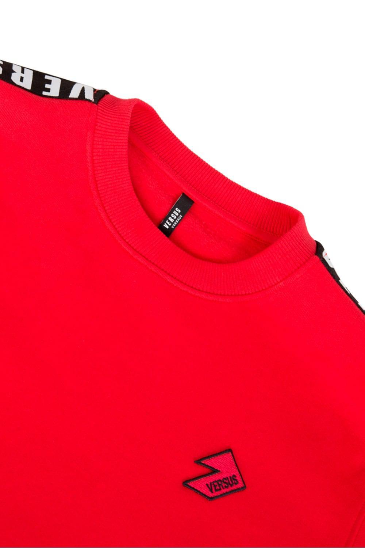 Versace Denim Versus Tape Sweatshirt Red for Men