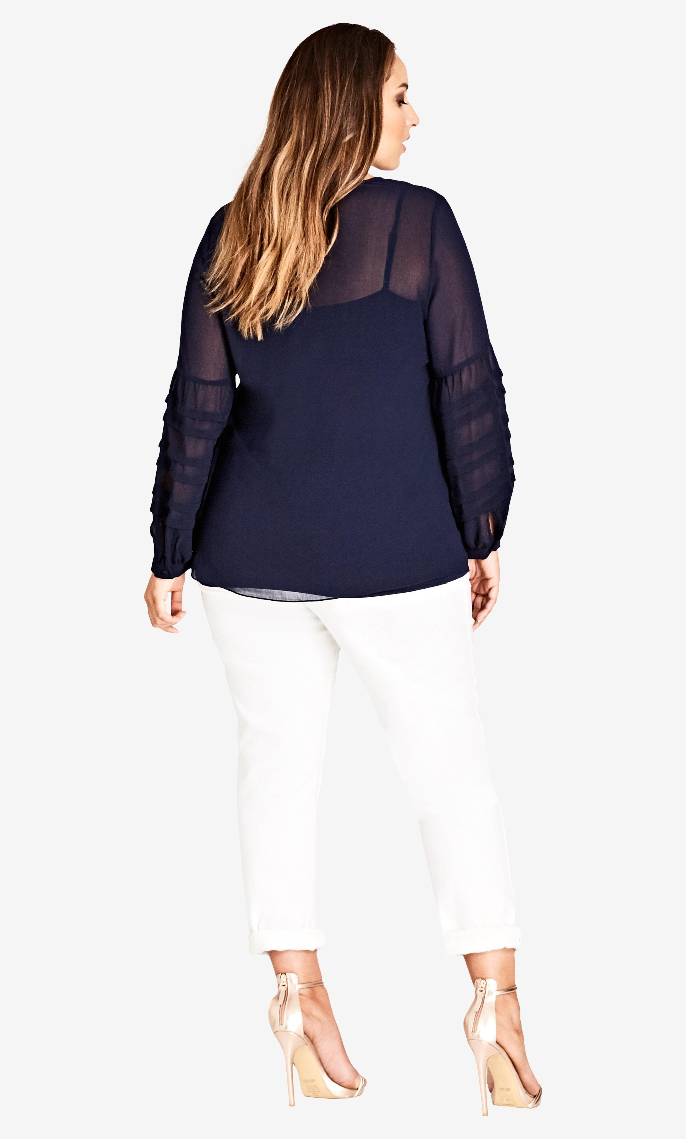 ba0a3e048d2 Lyst - City Chic Seraphina Top in Blue