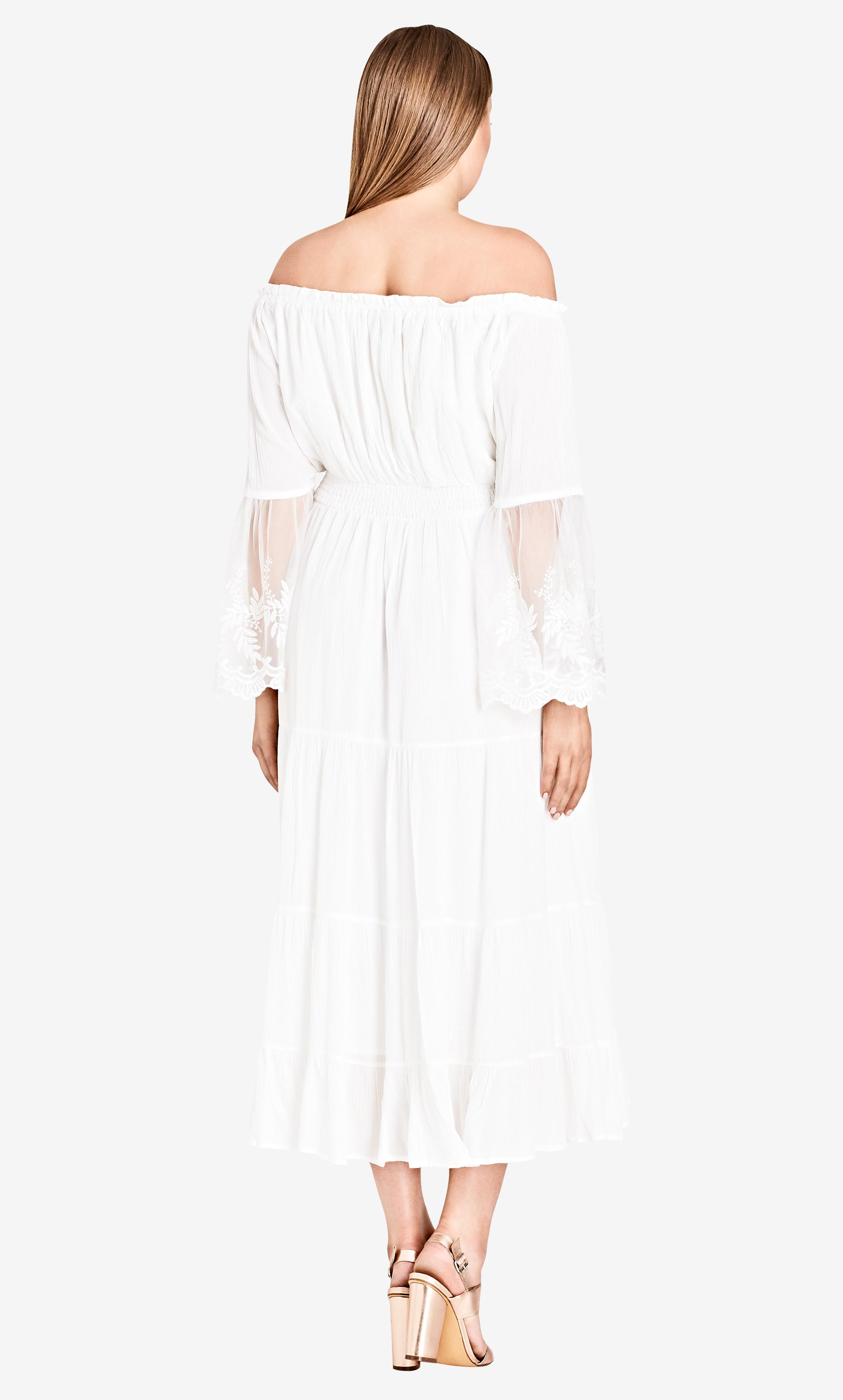 5c1b9ac63212 City Chic - White Ivory Ethereal Maxi Dress - Lyst. View fullscreen