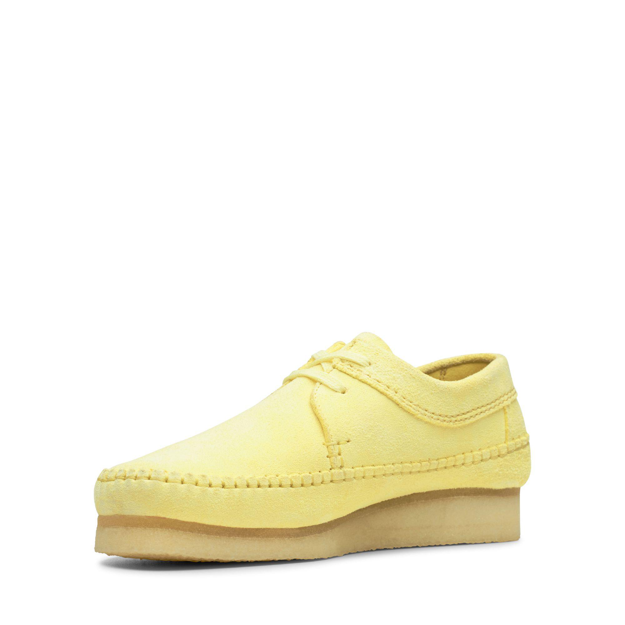 Clarks Suede Weaver in Pale Yellow