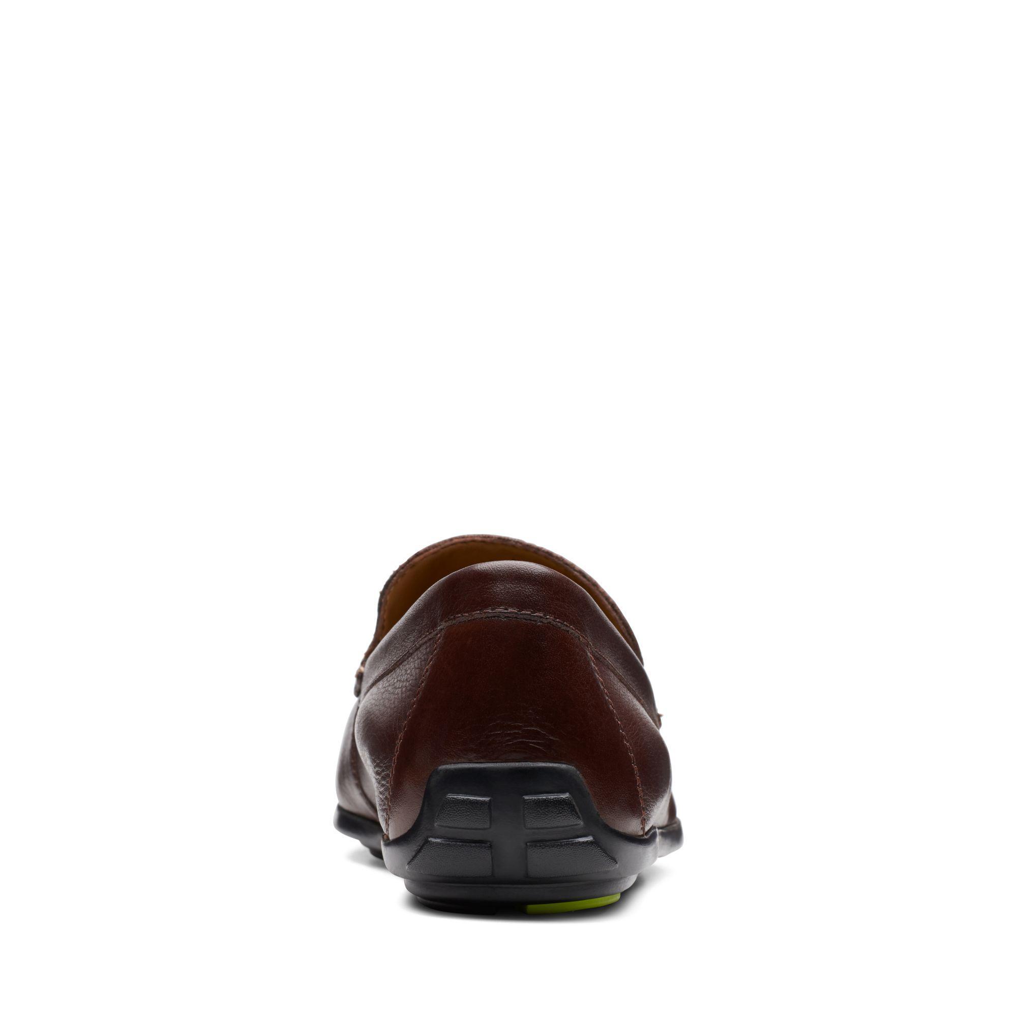 Clarks Leather Grafton Loafer in Dark