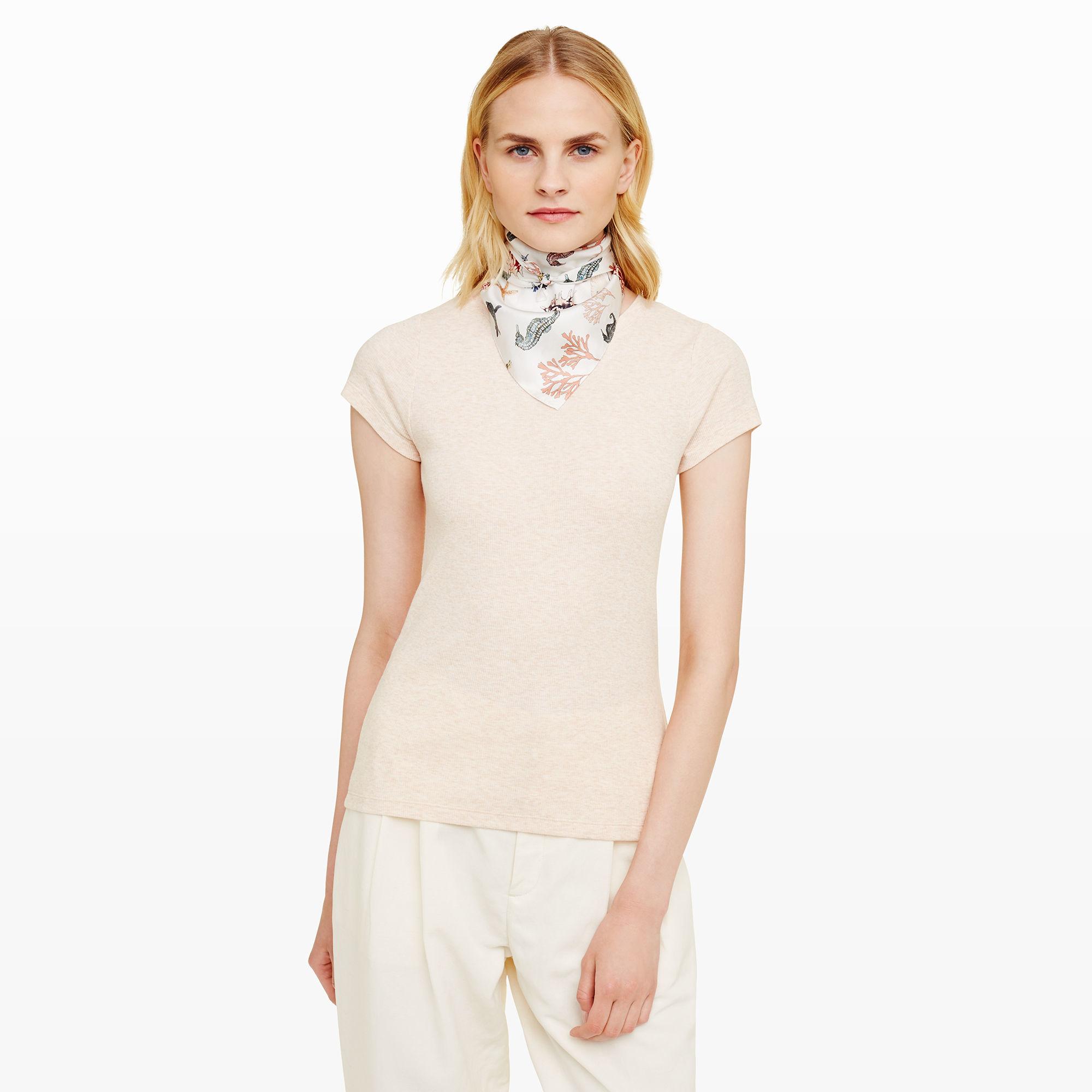 club monaco debbea silk scarf in white lyst