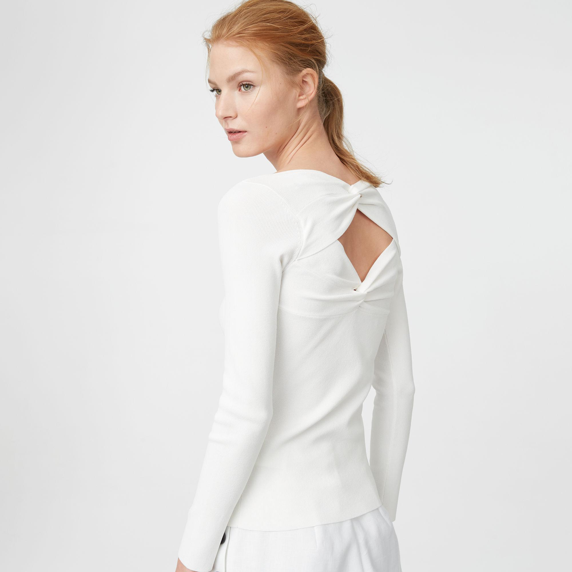 e18d12d62a Lyst - Club Monaco Remi Sweater in White