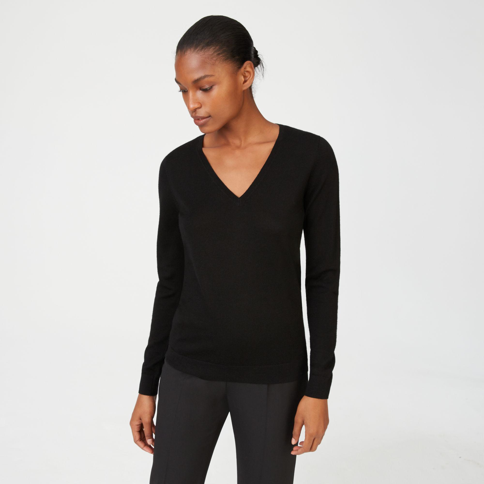 89b2efc7193e5 Lyst - Club Monaco Agnes Merino Wool Sweater in Black
