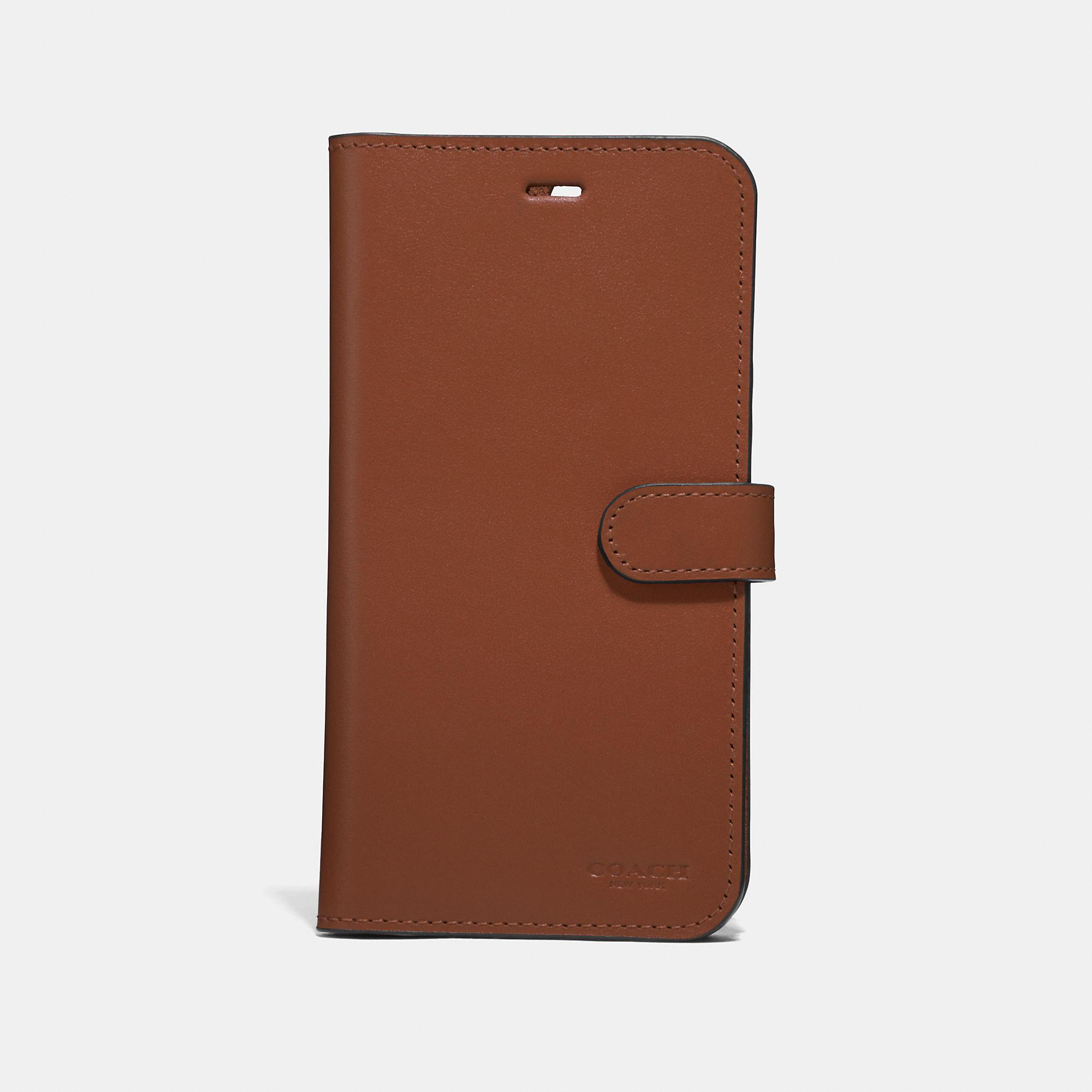 cheap for discount 9ab6d 1e867 COACH Iphone 7 Plus/8 Plus Folio in Brown - Lyst