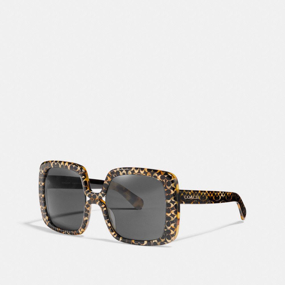 cad5519a510a COACH Ombre Signature Square Sunglasses - Lyst