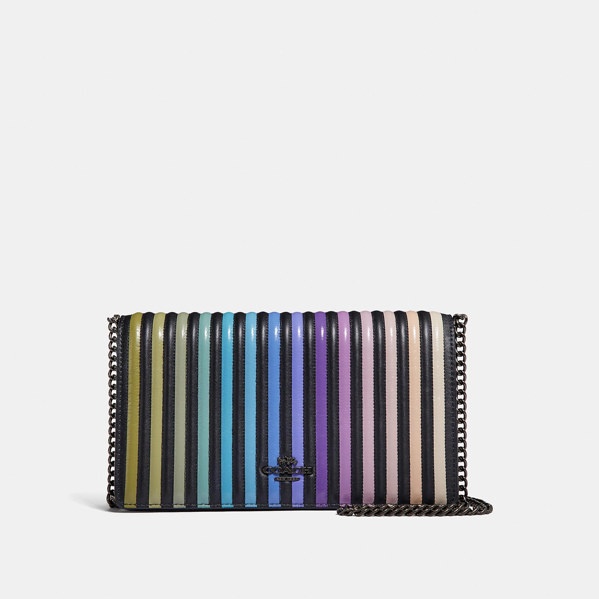 Lyst - Coach Callie Foldover Chain Clutch With Colorblock