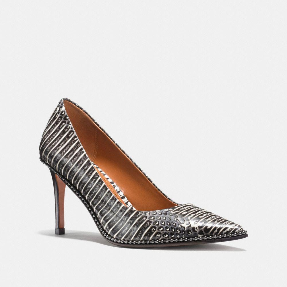 Womens Shoes COACH Smith Midnight Navy Cut Snake