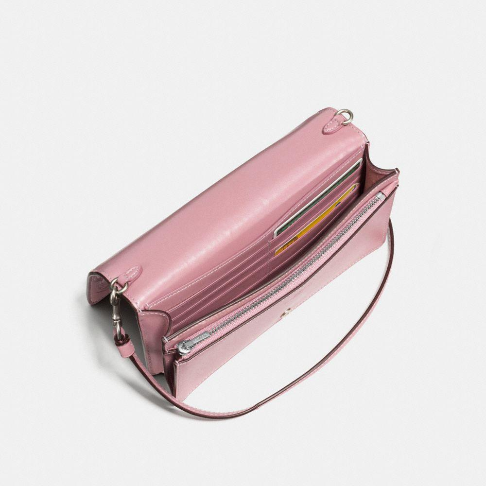 2d375a95e6039 Lyst - COACH Foldover Crossbody Clutch In Glovetanned Leather With ...