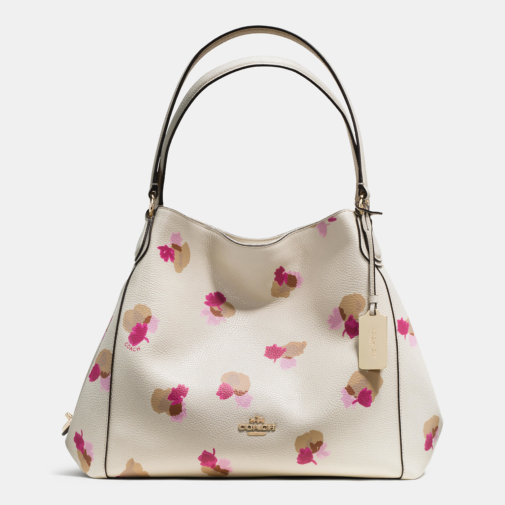 Lyst - COACH Edie Shoulder Bag 31 In Floral Print Leather 21957a5639dc0