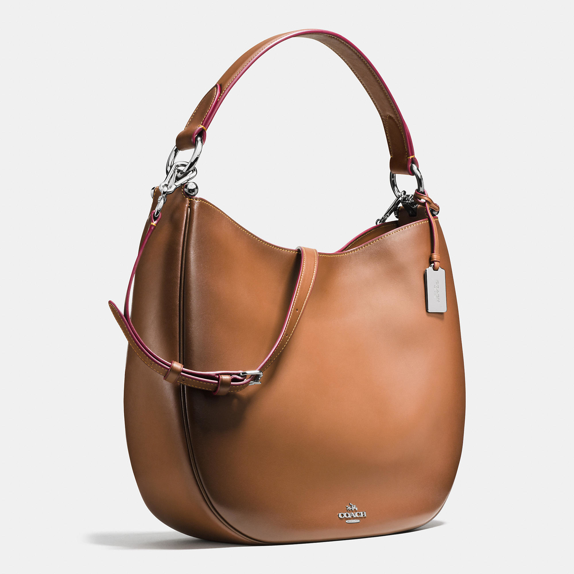 d984277f649 Lyst - COACH Nomad Hobo In Burnished Glovetanned Leather