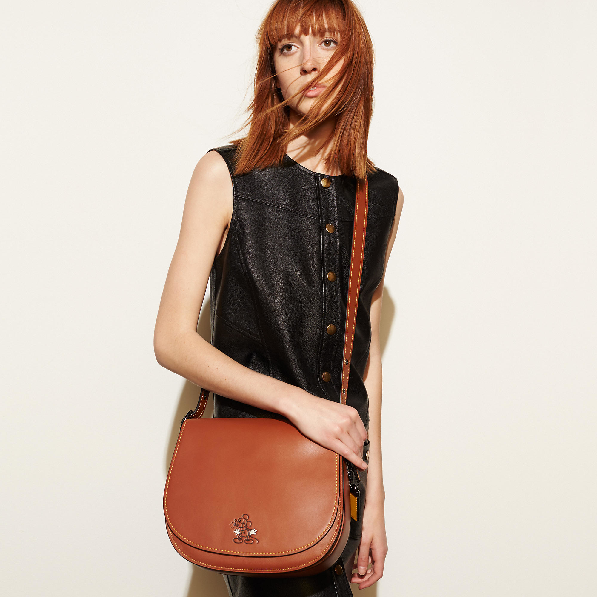 bee85d23 COACH Multicolor Mickey Saddle Bag In Glovetanned Leather