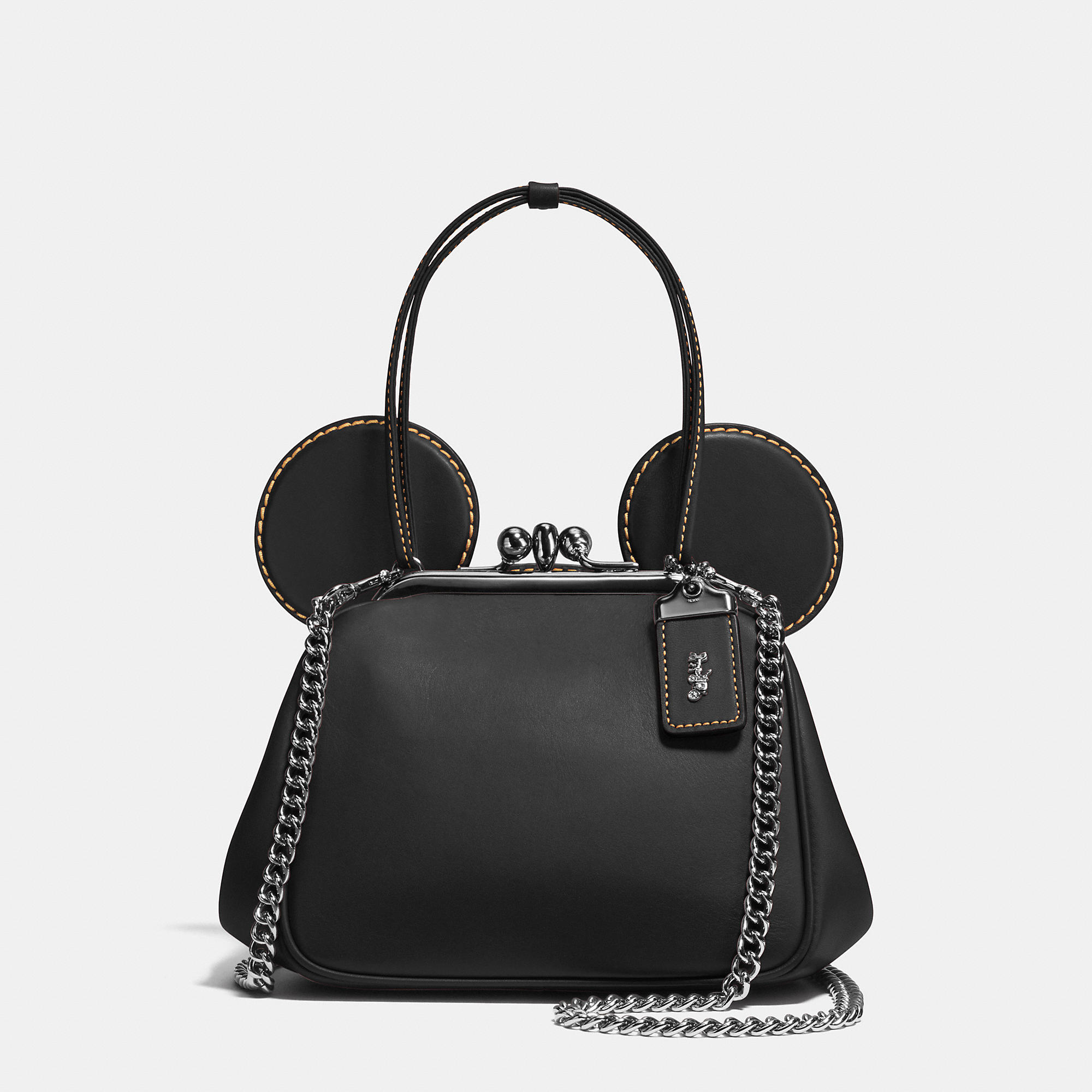 4246173157 Lyst - COACH Mickey Kisslock Bag In Glovetanned Leather