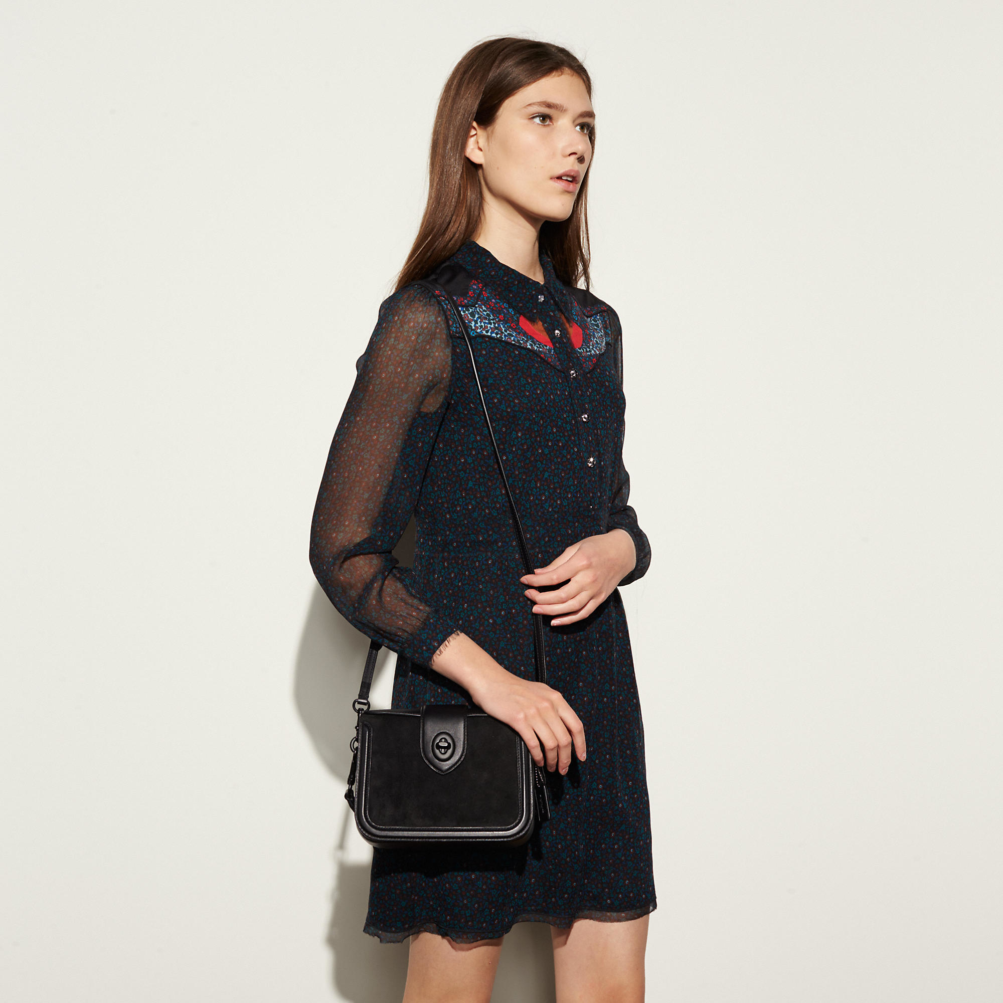 229e9d3d27 ... official store lyst coach page crossbody in mixed leather in black  457e6 1e598