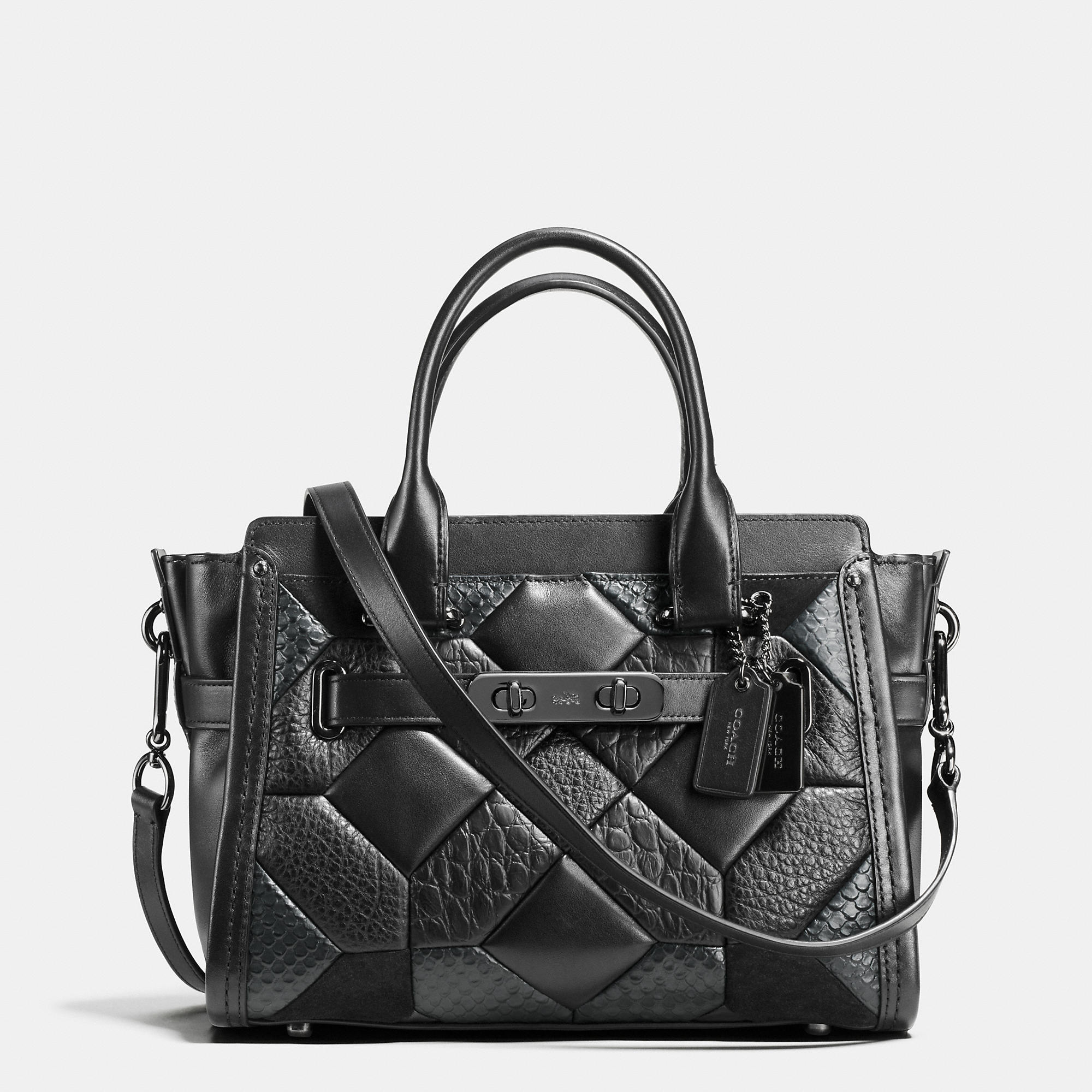 Coach Canyon Quilt Swagger 27 Carryall In Exotic Embossed