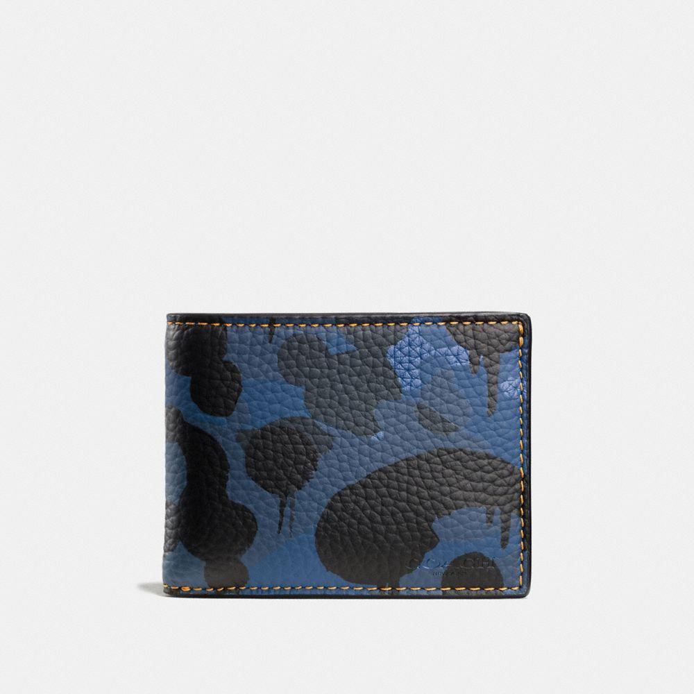Desert Camo Print LEATHER Zip Wallet