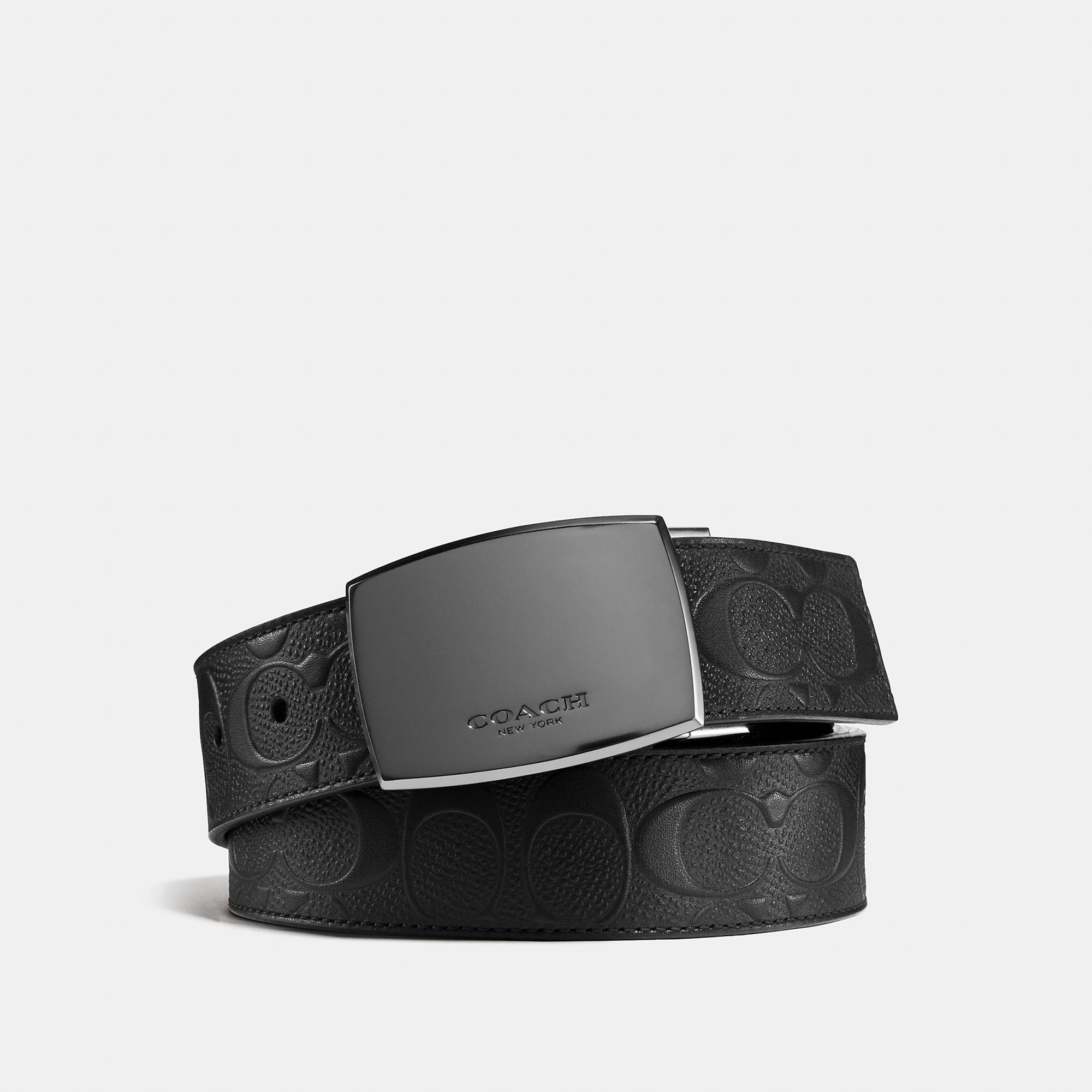 0445d68c8e Men's Black Classic Plaque Cut-to-size Reversible Belt In Signature Leather