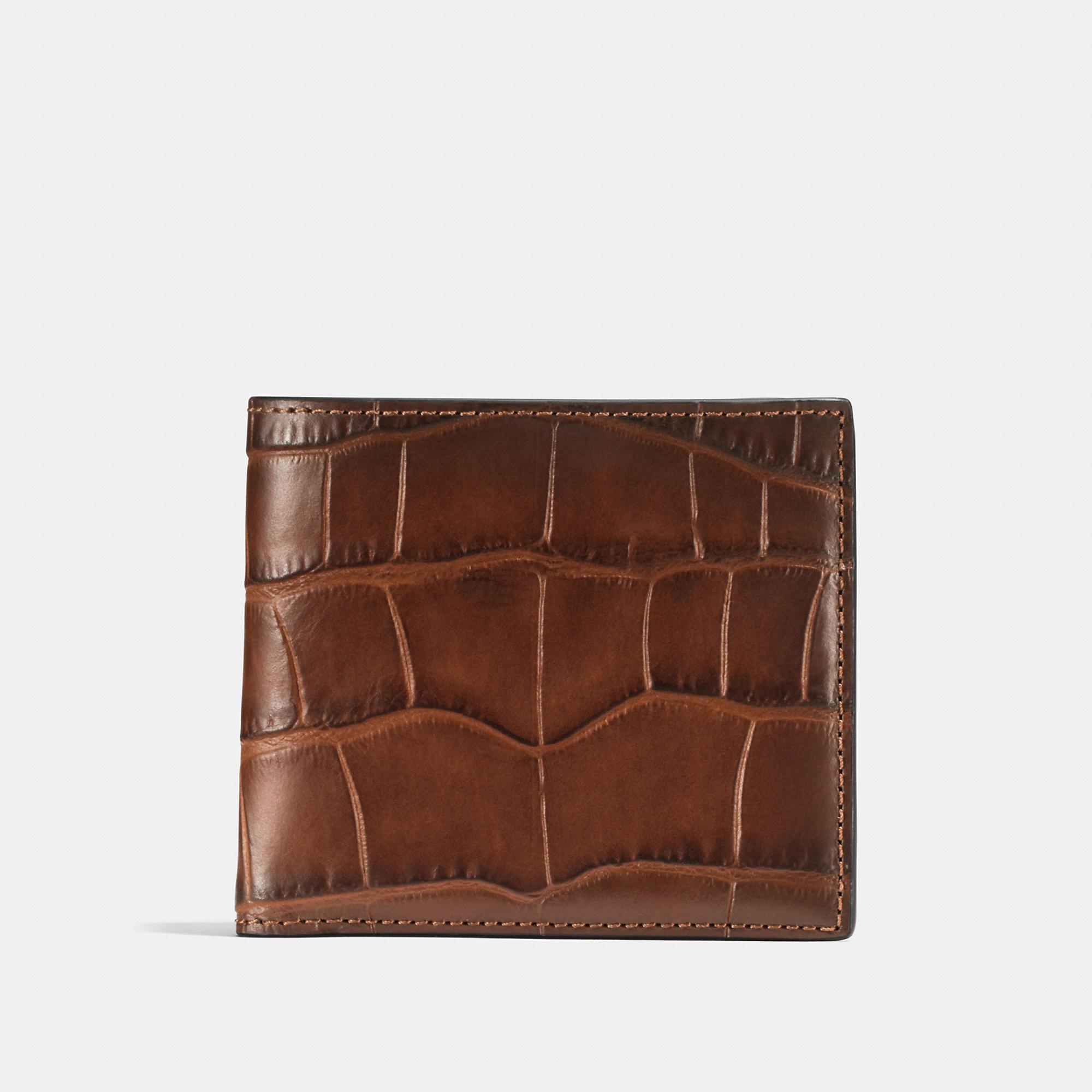 fede549f49e1 COACH Double Billfold Wallet in Brown for Men - Lyst