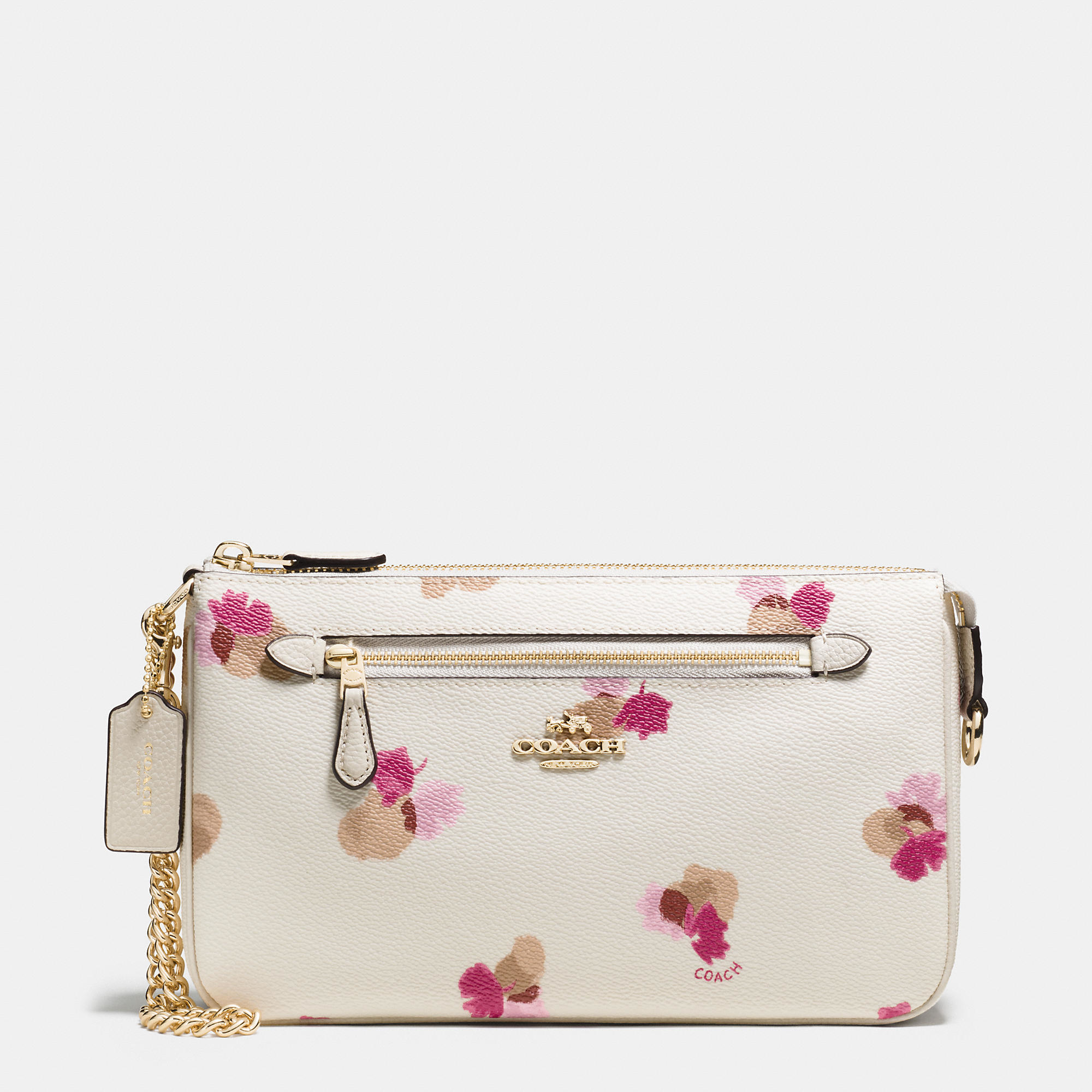 Lyst Coach Nolita Wristlet 24 In Floral Print Coated Canvas