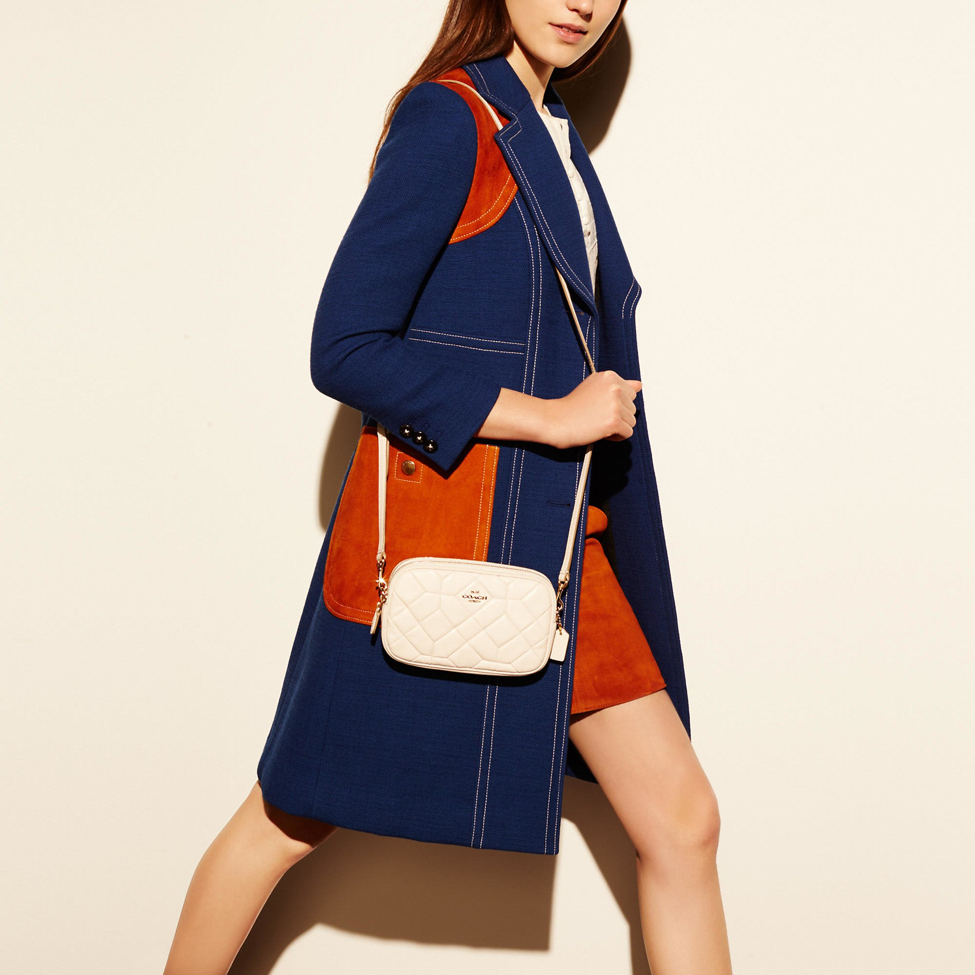 Lyst Coach Crossbody Clutch In Canyon Quilt Leather In White