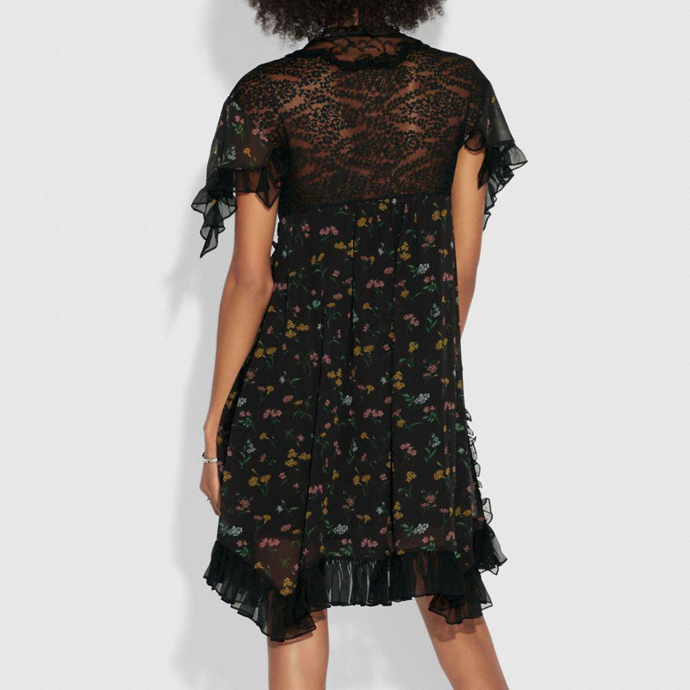 Coach Forest Floral Printed Baby Doll Dress Coach Cheap Shop For Buy Cheap How Much Clearance Best Cheap Sale 2018 Unisex 100% Guaranteed Online Ez8MgE