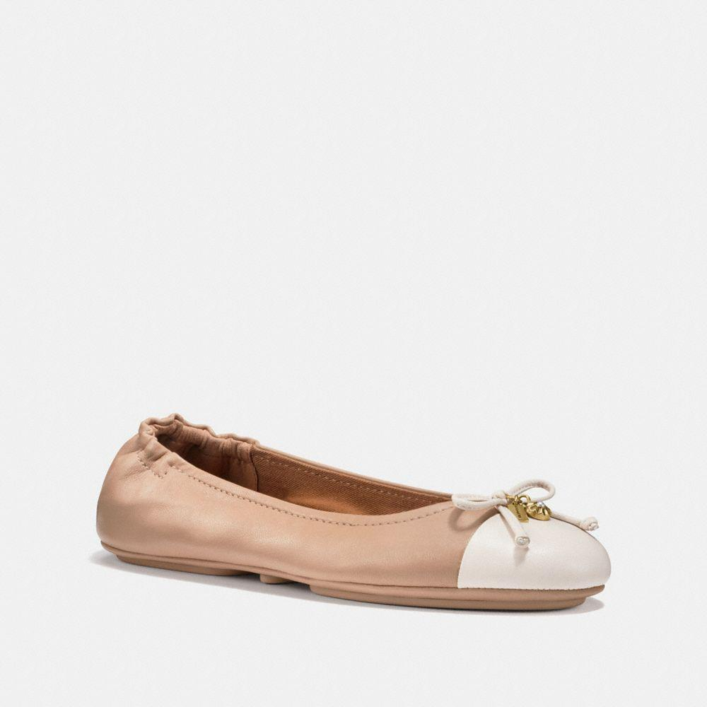 Coach STANTON BALLET - Ballet pumps - silver 8rc4VK