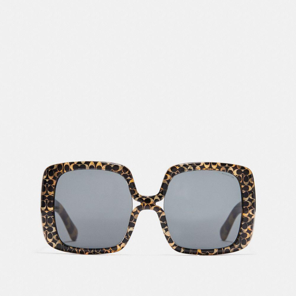15e1b0880ef45 COACH - Multicolor Ombre Signature Square Sunglasses - Lyst. View fullscreen