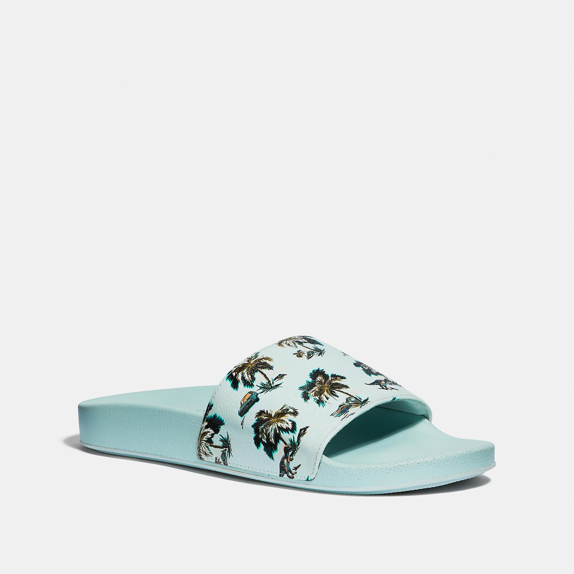 304327c96a8 Lyst - COACH Slide With Print in Blue for Men