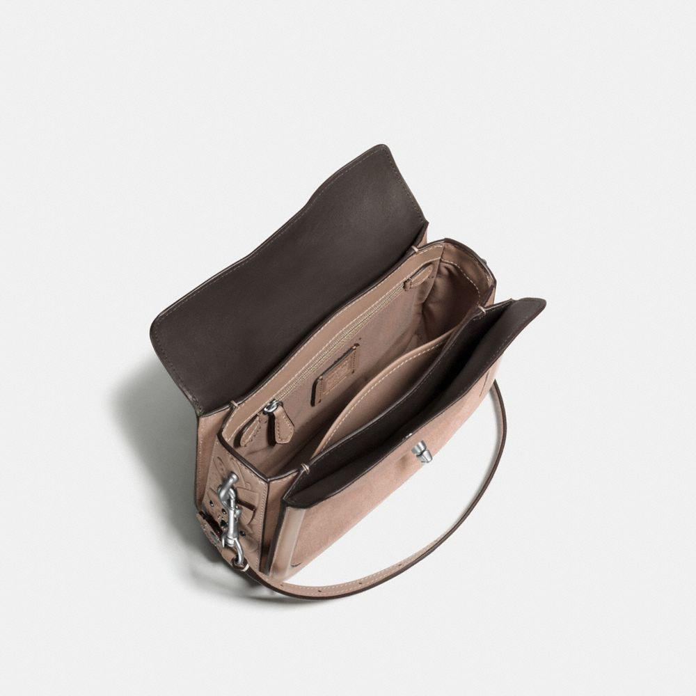 COACH Leather Page Crossbody With Painted Tea Rose Tooling