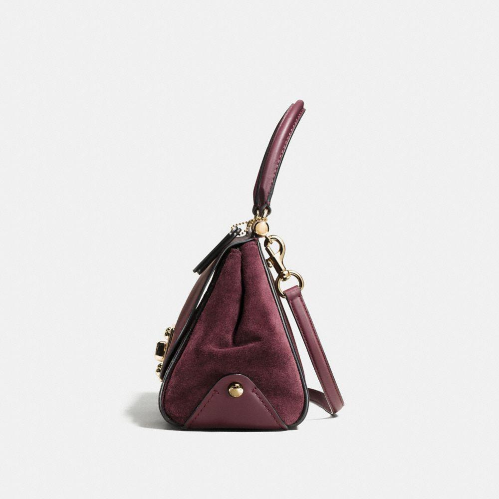 Coach Drifter Leather Top Handle Bag In Red Lyst