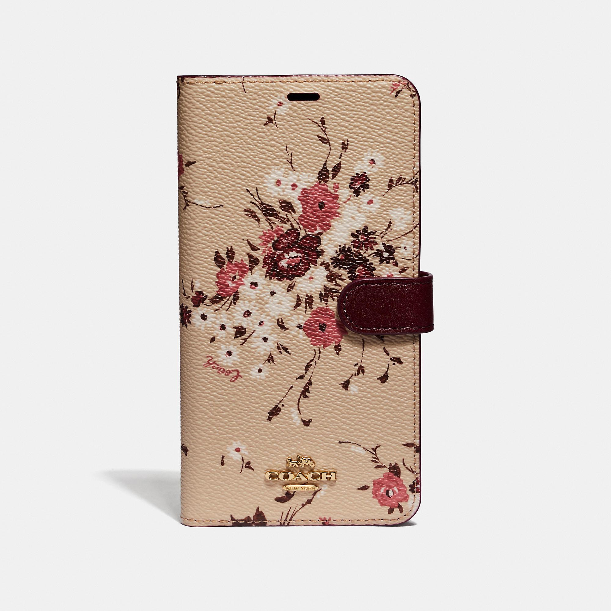 buy popular 4ebb7 6c06a COACH Multicolor Iphone Xs Max Folio With Floral Bundle Print