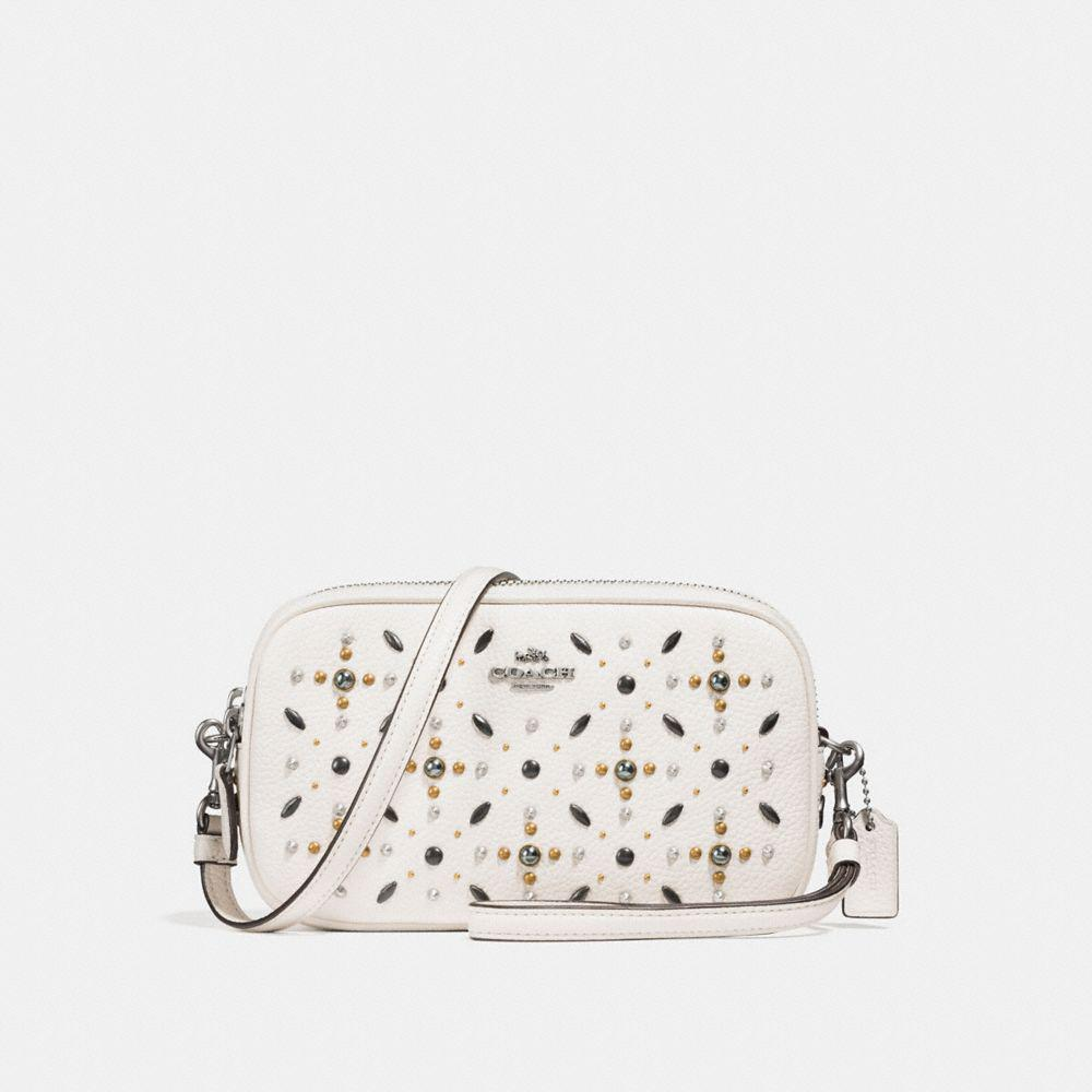 Cross Body Bags - Nolita Wristlet 22 With Prairie Rivets Chalk/Light Antique Nickel - white - Cross Body Bags for ladies Coach BPPyavsc