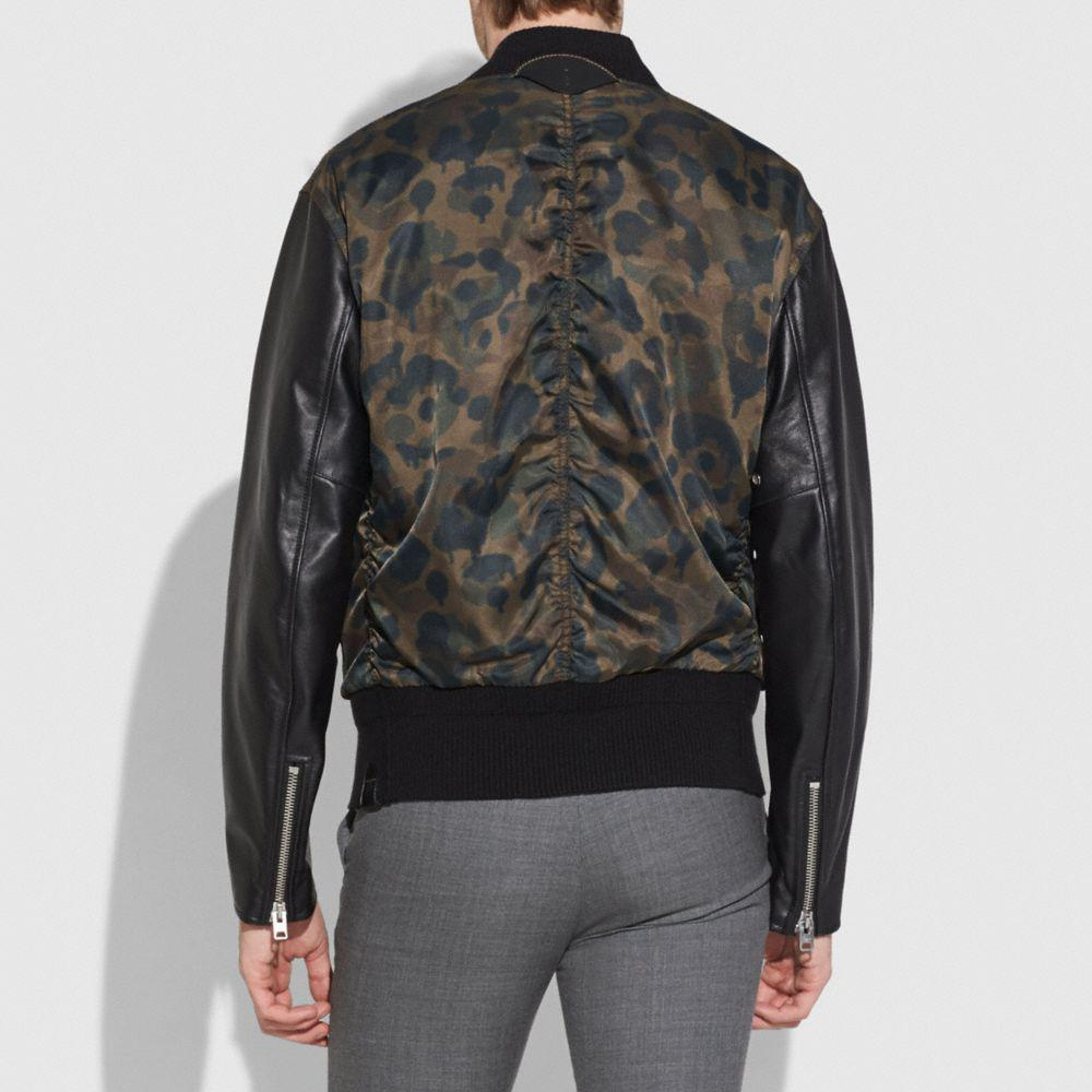 COACH Synthetic Wild Beast Varsity Jacket in Black for Men
