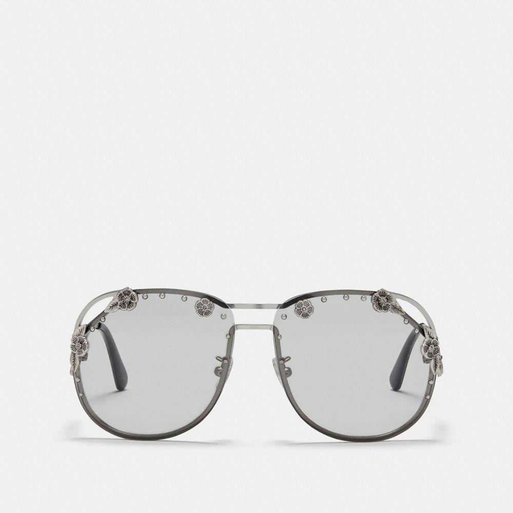 ee3c7a963bf ... Tea Rose Aviator Sunglasses - Lyst. View fullscreen