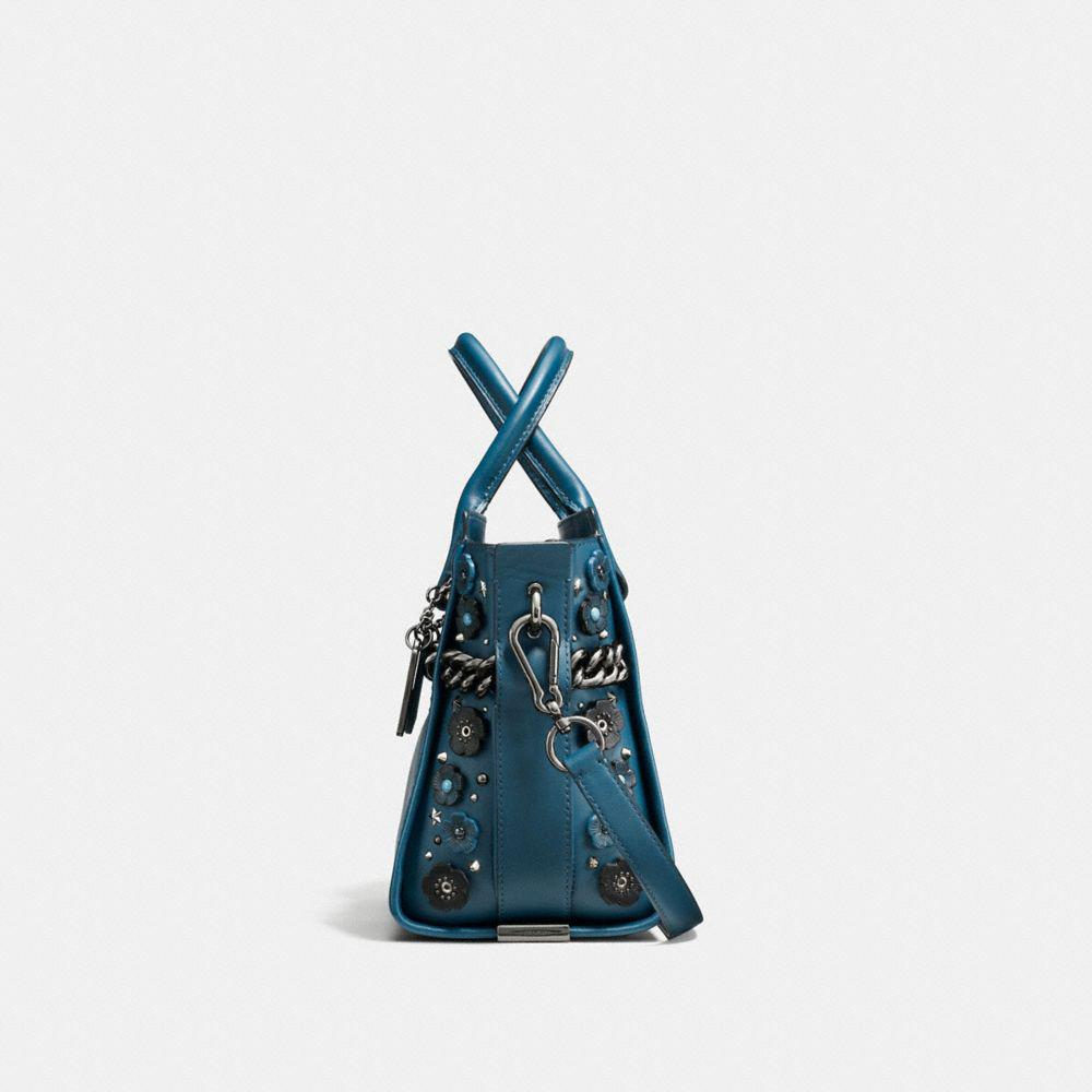 676ae26c012d Lyst - COACH Swagger 27 In Glovetanned Leather With Willow Floral ...