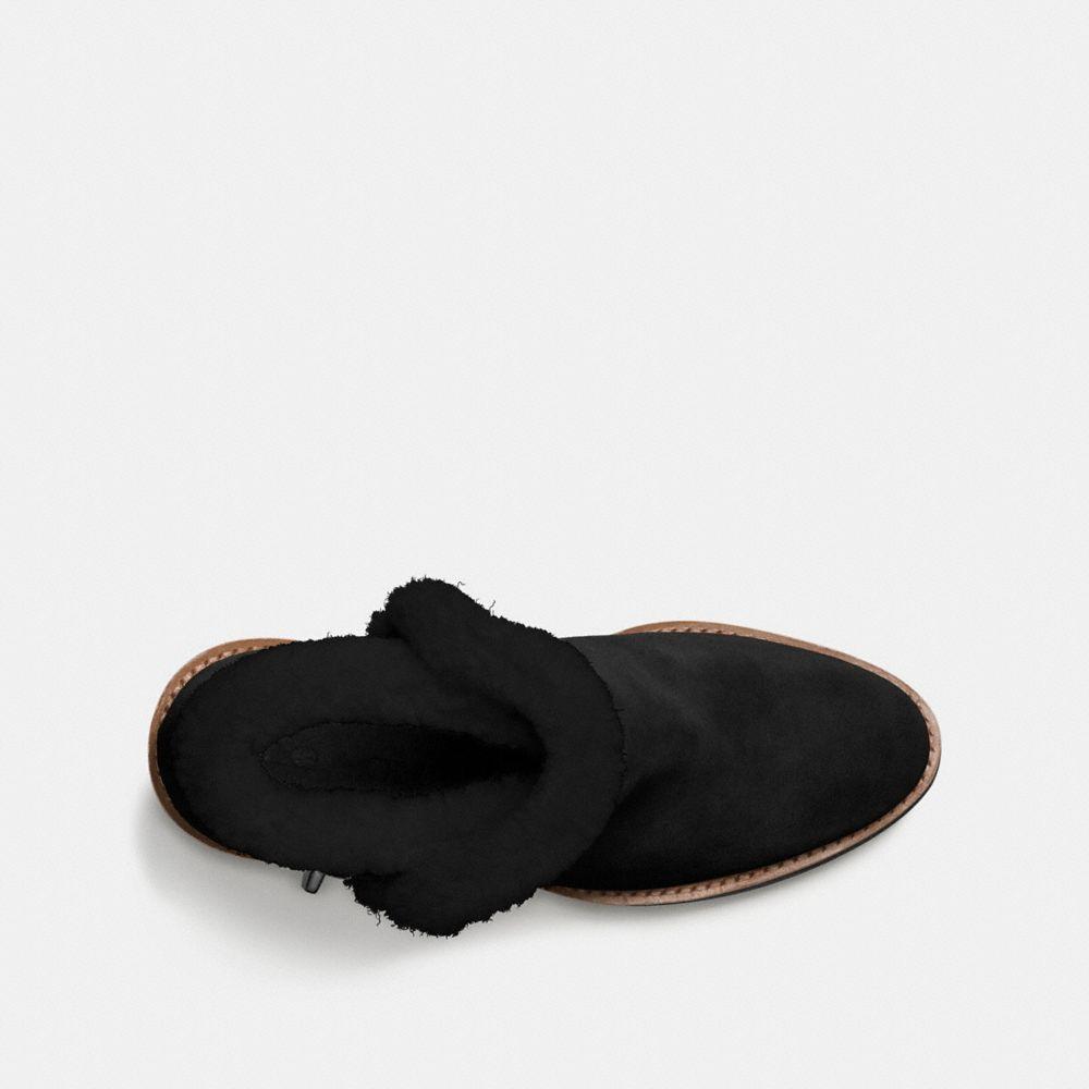 COACH Suede Kingston Boot in Black/Black (Black)
