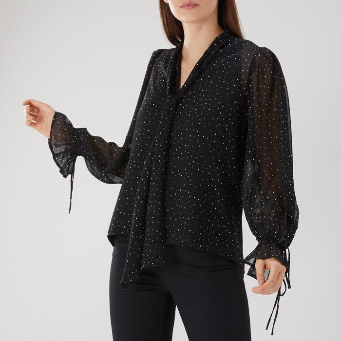 Coast Elaine Spot Pussybow Blouse Get Authentic Online Outlet Very Cheap Buy Newest Cheap Websites VYGyidB