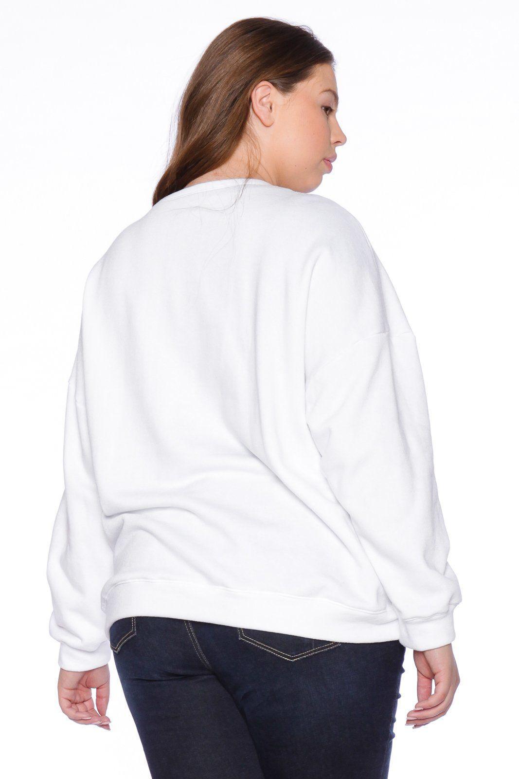 9c590d021b7 Slink Jeans - White Not Fake Crewneck - Lyst. View fullscreen