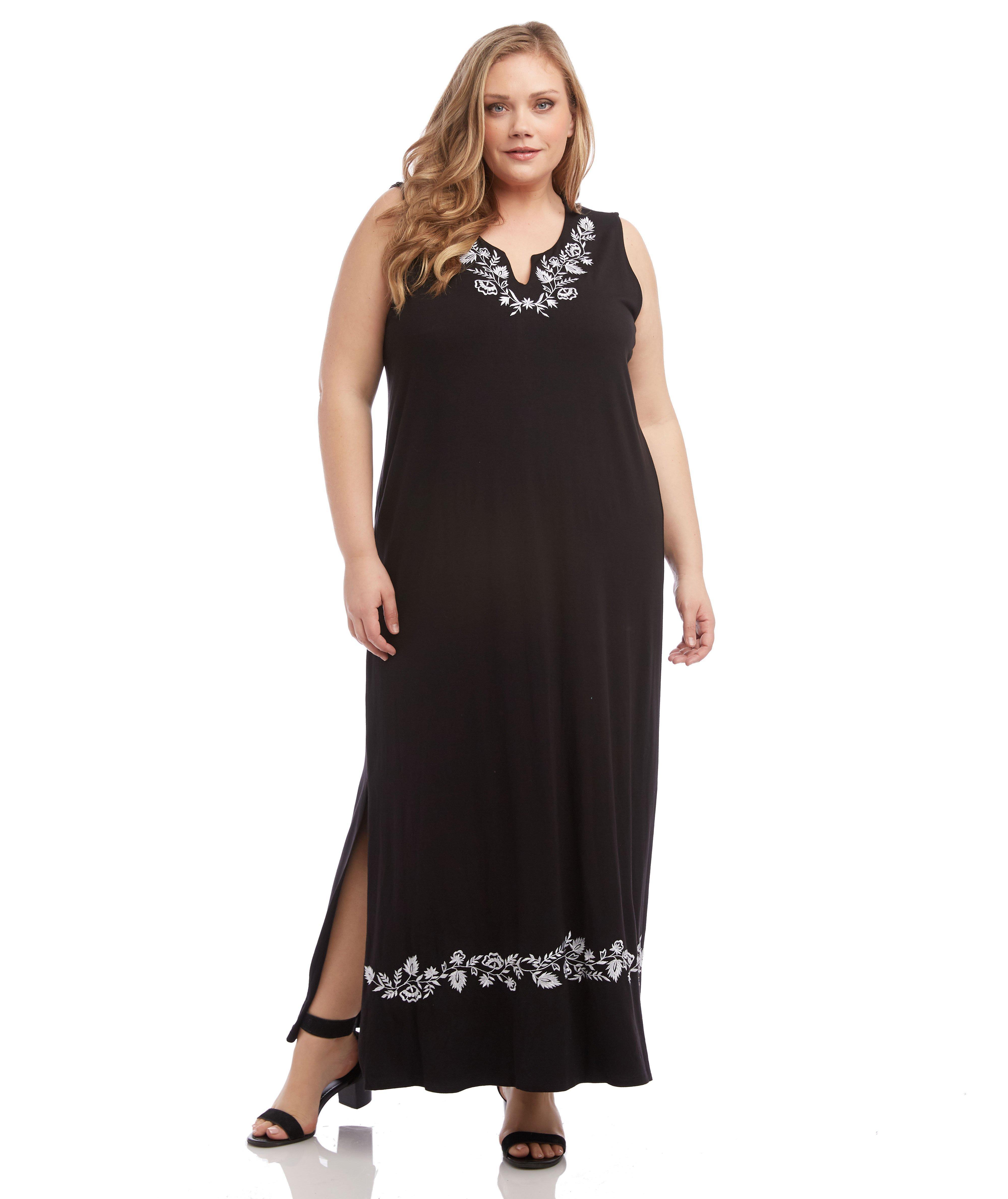 d9889a04b0f Lyst - Karen Kane Embroidered Maxi Dress in Black