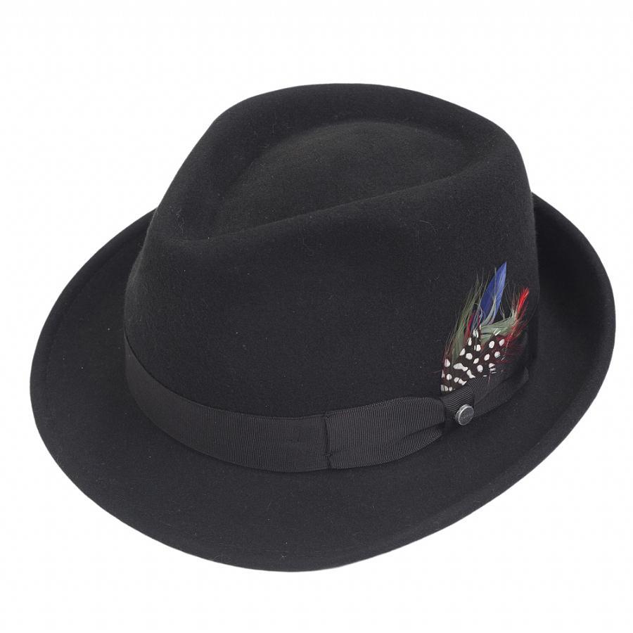 40e2f46f Stetson Elkader Trilby Hat in Black for Men - Lyst