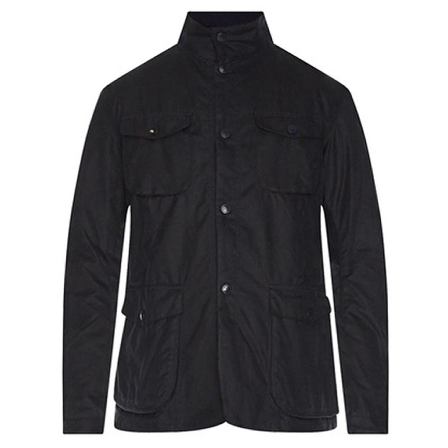 Barbour Cotton Ogston Wax Jacket In Blue For Men Lyst