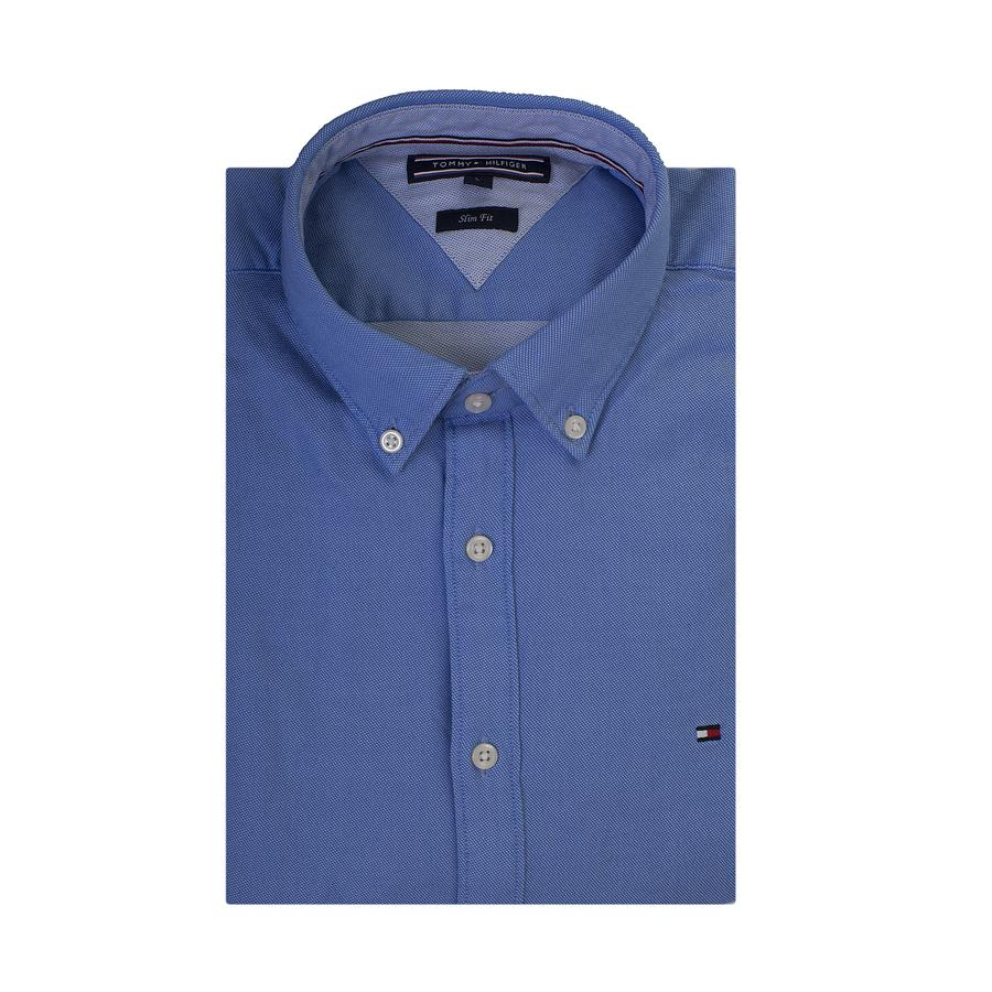 b1ab1212 Tommy Hilfiger Slim Two Tone Dobby Shirt in Blue for Men - Lyst