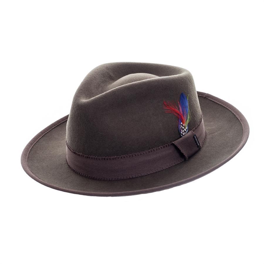 32fddca13bac6b Stetson Virginia Wool Felt Hat in Green for Men - Lyst