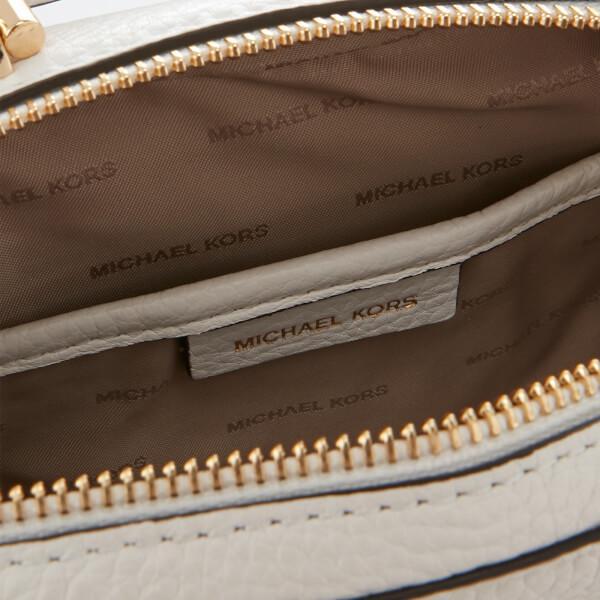 MICHAEL Michael Kors Leather Women's Mini Guitar Strap Cross Body Bag in White