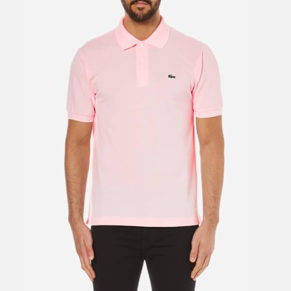 Lacoste Men's Polo Shirt in Pink for Men | Lyst
