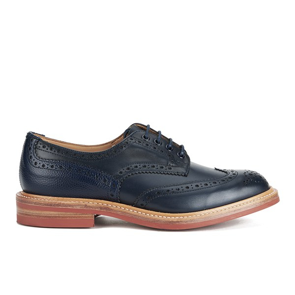 Tricker's Men's Bourton Leather Brogues in Navy (Blue) for Men